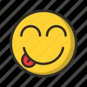 emoji, tongue, smiley, emoticon