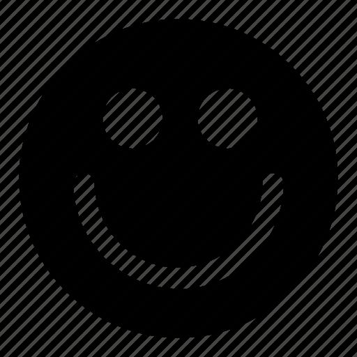 big, emoticons, friendly, happy, smile icon