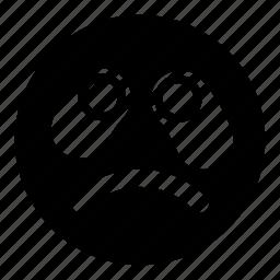 cry, emoticons, sad, smudged, unhappy icon