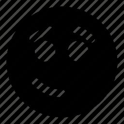 emoticons, eyebrows, humble, modest, smile icon
