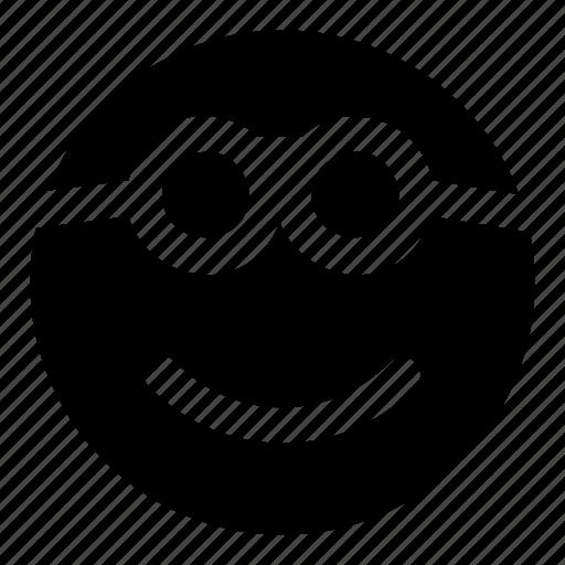 emoticons, glasses, goofy, nerd, smile icon