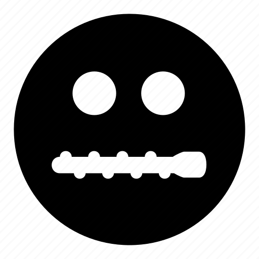 emoticons, mouth, not, silent, telling, zipped icon
