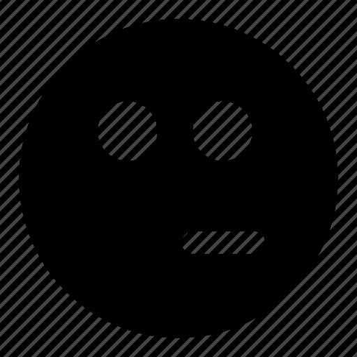 emoticons, quiet, silent, smiley, unsure icon