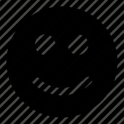 emoticons, friendly, modest, plain, smile, smiley icon