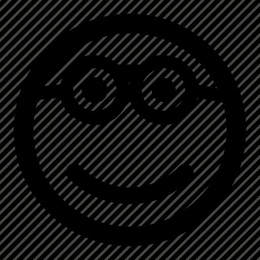 emoticons, glasses, goofy, nerd, smile, smiley icon