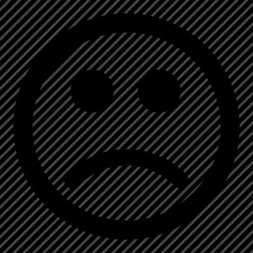 emoticon, emoticons, sad, smiley, unhappy icon