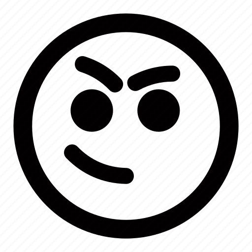 emoticons, mischievous, plan, smiley, thoughts icon