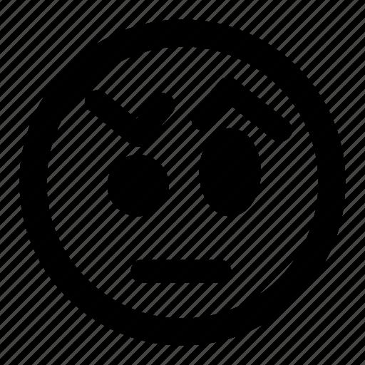 emoticons, eyebrows, skeptical, smiley, unsure icon