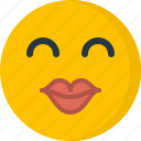emoji, eyes closed, intimate, kiss, lips, pictorial representation, pout icon