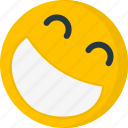 emoji, eyes closed, happy, laugh, laughing, laughter, rolling on the floor icon