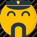 cap, duty, man, mustache, officer, policeman, social media icon