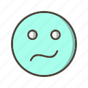 confused, emoticon, face icon