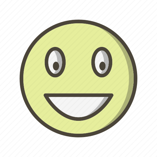 emoticon, face, laughing icon