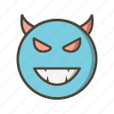 devil, emoticon, face icon