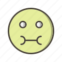 emoticon, face, sick icon