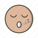 emoji, emoticon, sleep icon