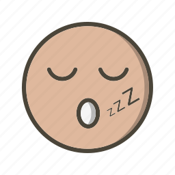 emoticon, face, sleep icon
