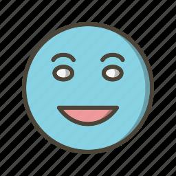 emoticon, laughing, lol icon