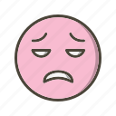 disappointed, emoticon, face icon