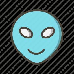 alien, emoticon, face icon