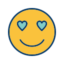 emoticon, love, smiley icon