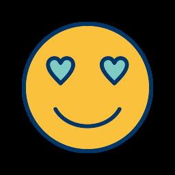 emoticon, face, love, smiley icon