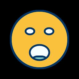 emoticon, face, shouting, smiley icon