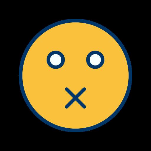 emoticon, face, mute, smiley icon