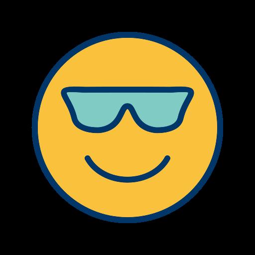 cool, emoticon, smiley icon