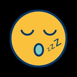 emoticon, face, sleep, smiley icon