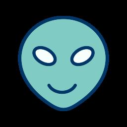 alien, emoticon, face, smiley icon