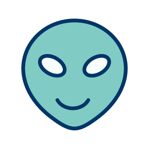 alien, emoticon, smiley icon
