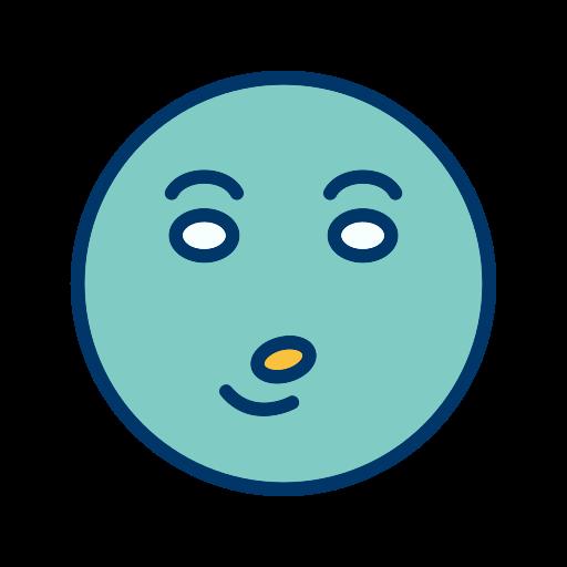 emoticon, smiley, whistle icon
