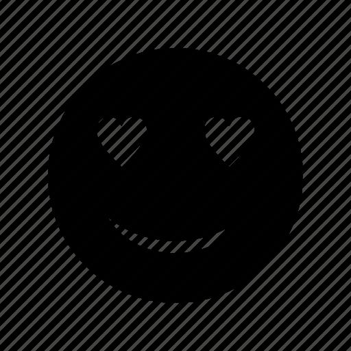 emoji, emoticon, face, love icon