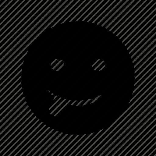 emoji, emoticon, stuck, tongue icon