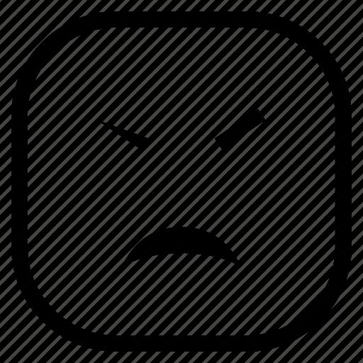 angry, cry, emoji, emoticon icon