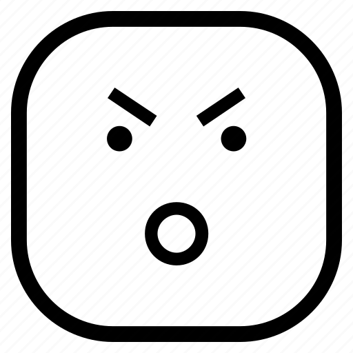 angry, emoji, emoticon, shit icon
