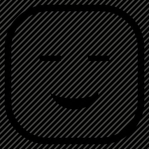 cute, emoji, emoticon, smile icon