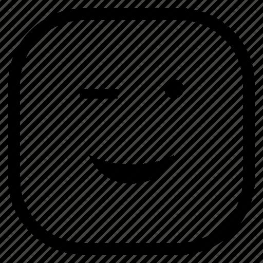 blink, emoji, emoticon, eye icon
