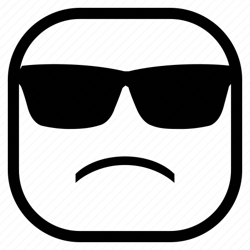 emoji, emoticon, glasses icon