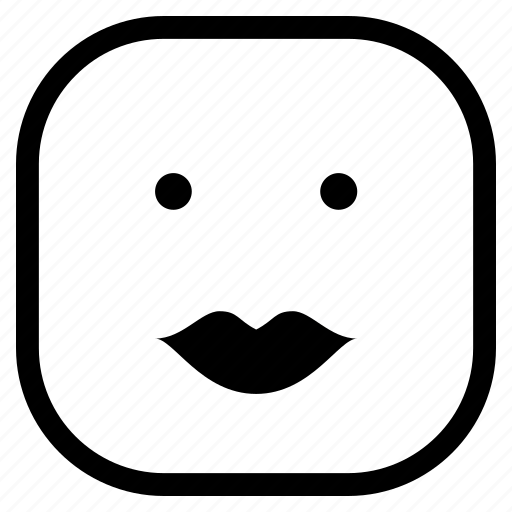 emoji, emoticon, kiss, lips icon