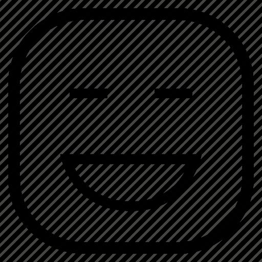 emoji, emoticon, face, laughing, smiling icon