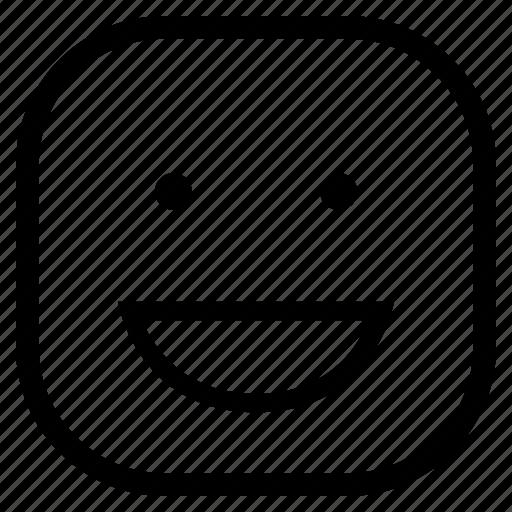 emoji, emoticon, laughing, teeth icon