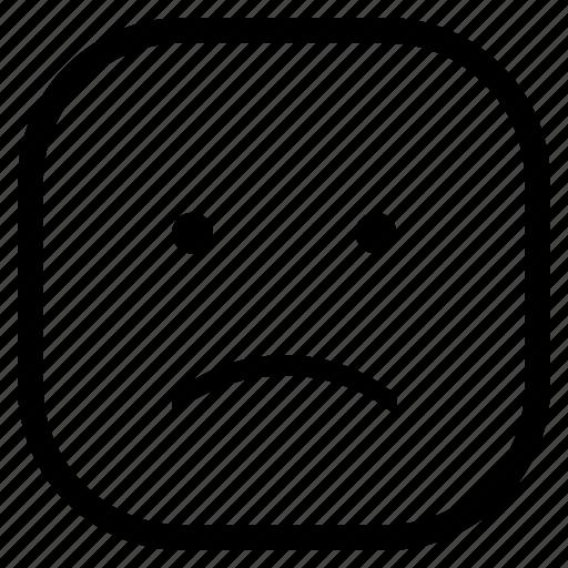 cry, emoji, emoticon, face, sad icon