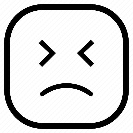 emoji, emoticon, feeling, sad icon