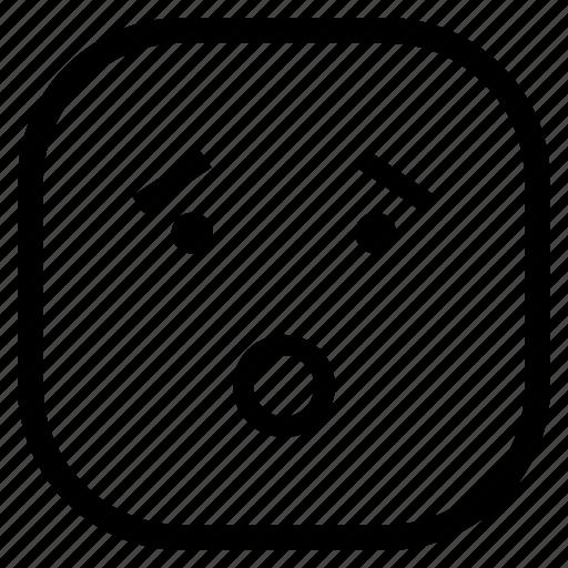 emoji, emoticon, ohh, wow icon