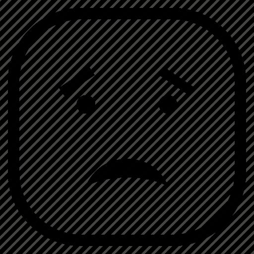 emoji, emoticon, sad icon