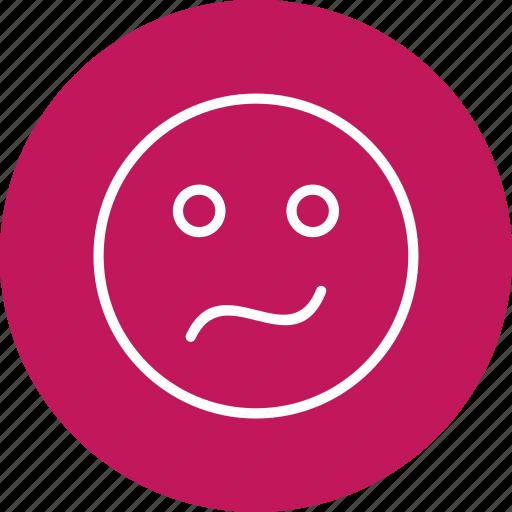 confused, emoticon, face icon