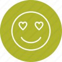 emoticon, face, love, smiley icon
