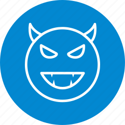 devil, emoticon, face icon